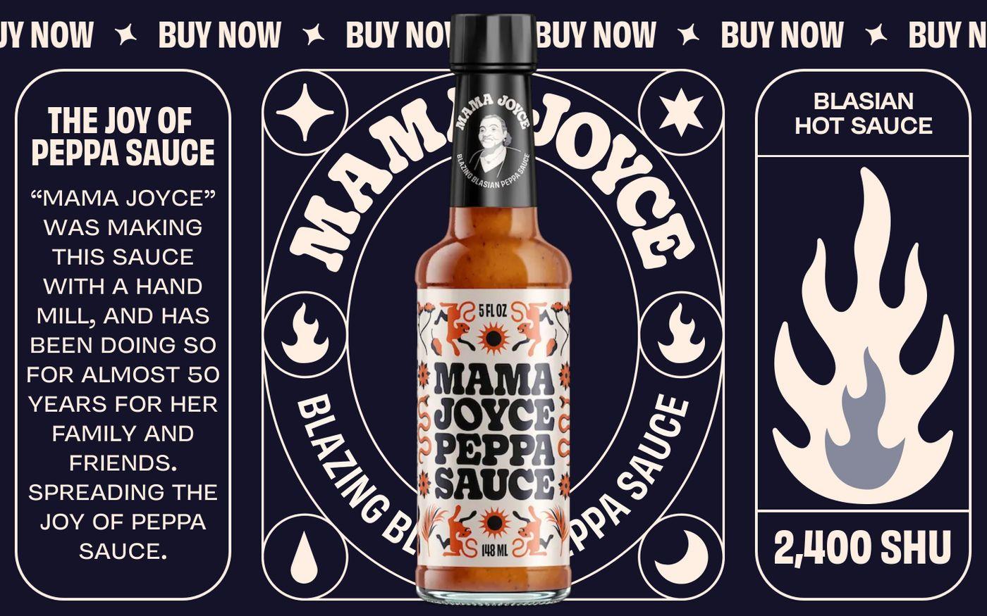 Screenshot of Mama Joyce Peppa Sauce website