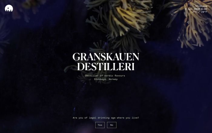 Screenshot of Granskauen Destilleri