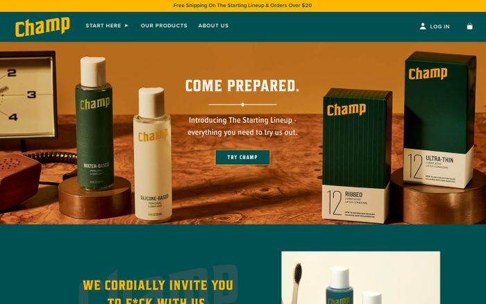 Screenshot of Champ | Quality Condoms and Lubricants
