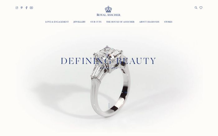Screenshot of Royal Asscher - Diamonds since 1854