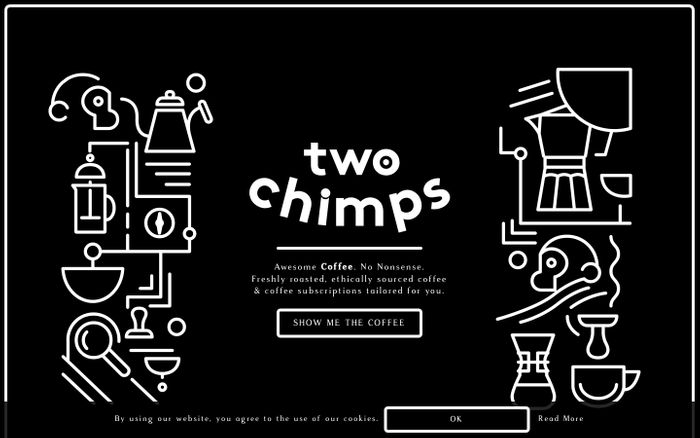 Screenshot of Coffee Subscriptions   Buy Coffee   Best Coffee   Two Chimps Coffee