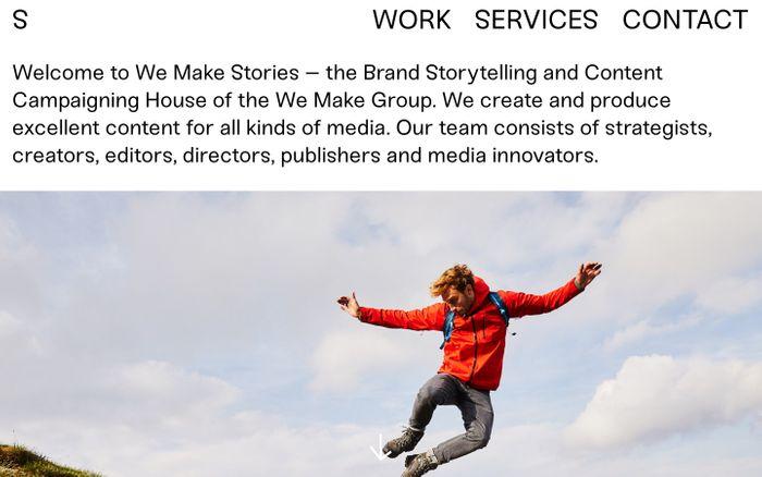 Screenshot of We Make Stories