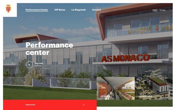 Screenshot of AS Monaco   Centre de Performance