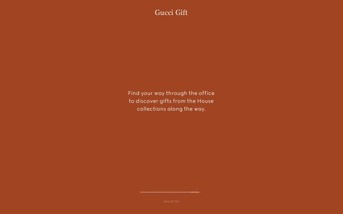 Screenshot of Gucci Gift
