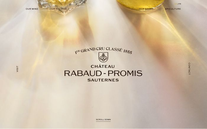 Screenshot of Château Rabaud-Promis website