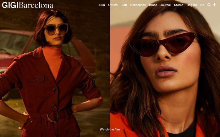 Screenshot of Designer sunglasses & frames made in Barcelona | GIGI Barcelona