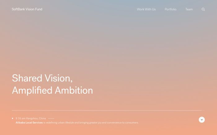 Screenshot of SoftBank Vision Fund | Shared Vision, Amplified Ambition