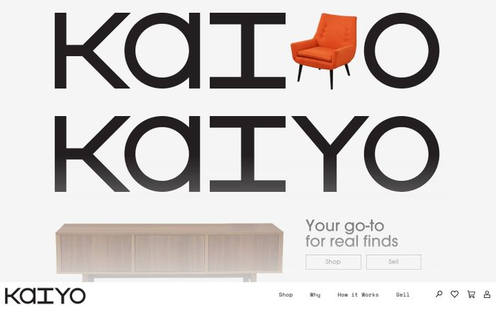 Screenshot of Kaiyo - Buy and Sell Used Furniture