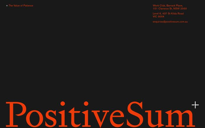 Screenshot of Positive Sum