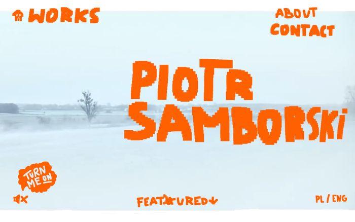 Screenshot of Piotr Samborski - Portfolio