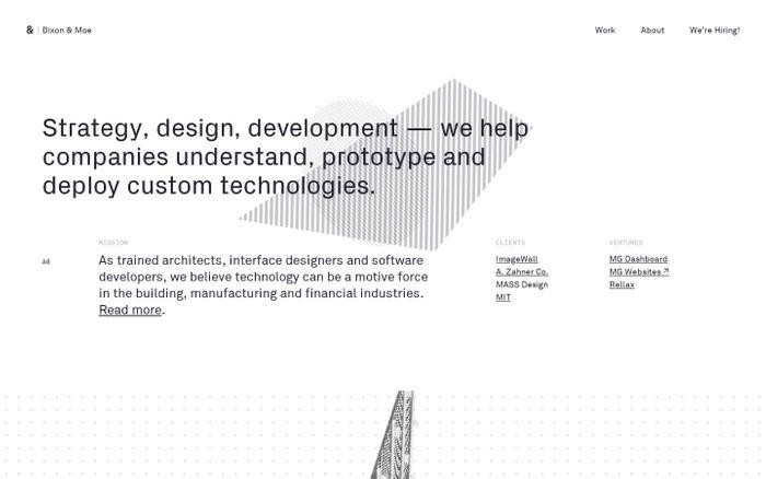 Screenshot of Dixon & Moe — Strategy, Design, Development