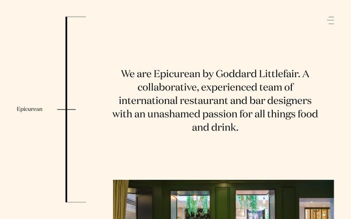 Screenshot of Epicurean website
