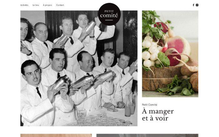 Screenshot of Petit Comité Paris — À manger et à voir