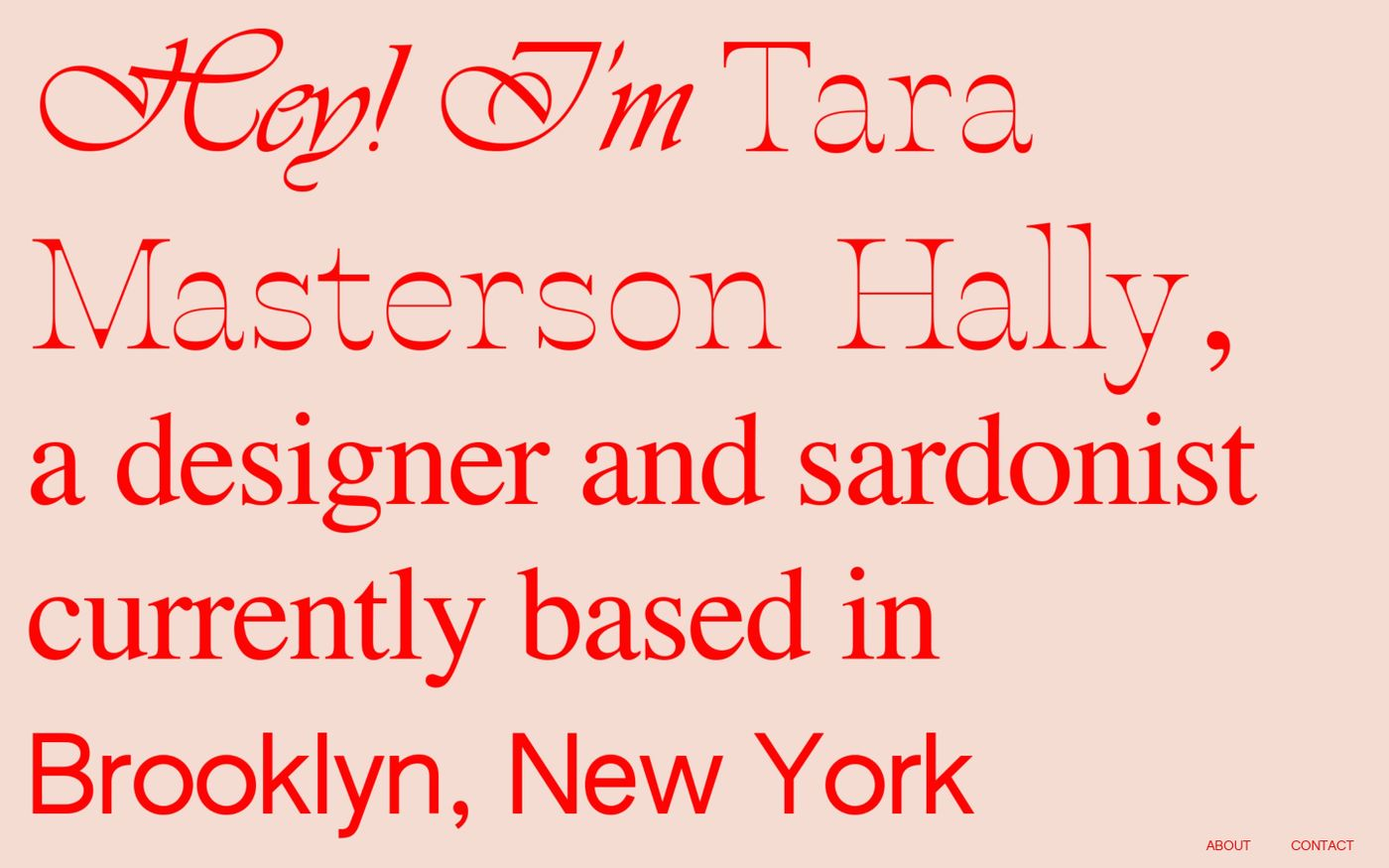 Screenshot of Tara Masterson Hally website