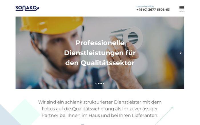 Screenshot of Professionelle Dienstleistung für den Qualitätssektor
