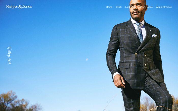 Screenshot of Custom Suits | Dallas, Houston, New Orleans | Harper & Jones