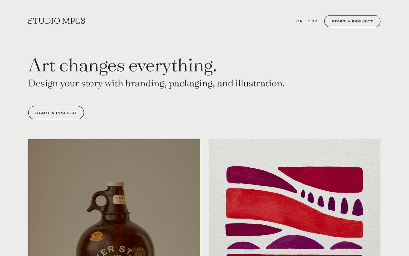 Screenshot of Studio MPLS website