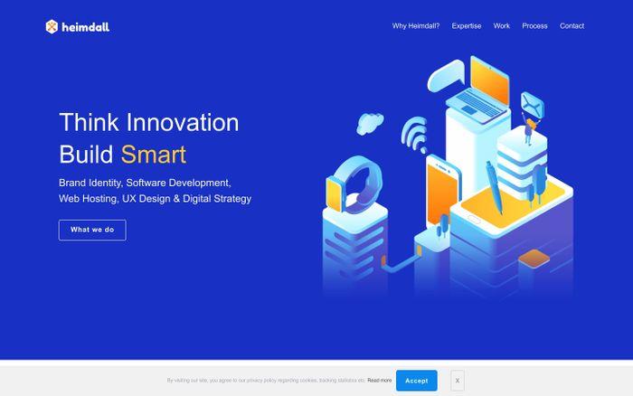 Screenshot of Heimdall - Branding, UI/UX, Digital Marketing & Web Design