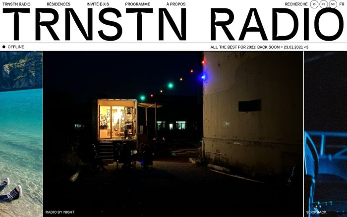 Screenshot of Trnstn radio website