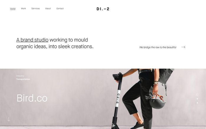 Screenshot of District2 – Brand & Digital Studio