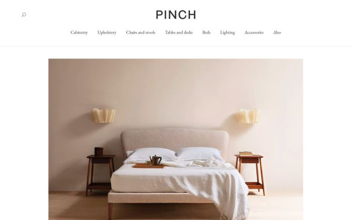 Screenshot of Pinch website