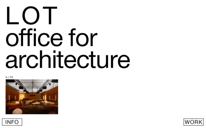 Screenshot of LOT office for architecture