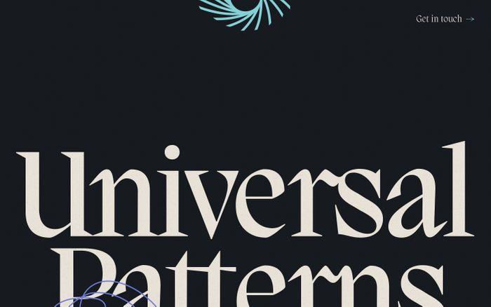 Screenshot of Universal patterns website