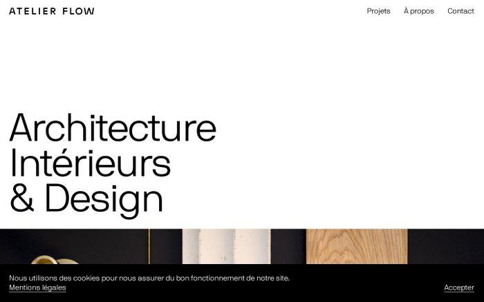 Screenshot of Atelier Flow website