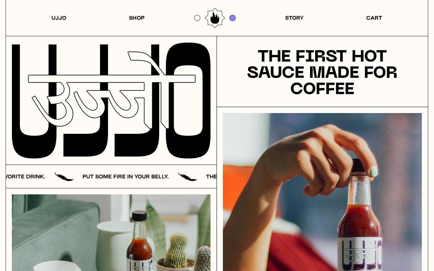 Screenshot of Ujjo website