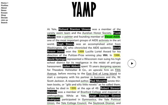 Screenshot of YAMP: Home