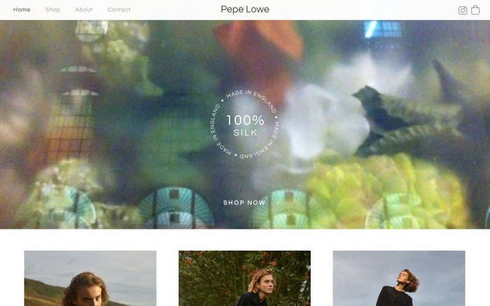 Screenshot of Pepe Lowe • 100% Silk