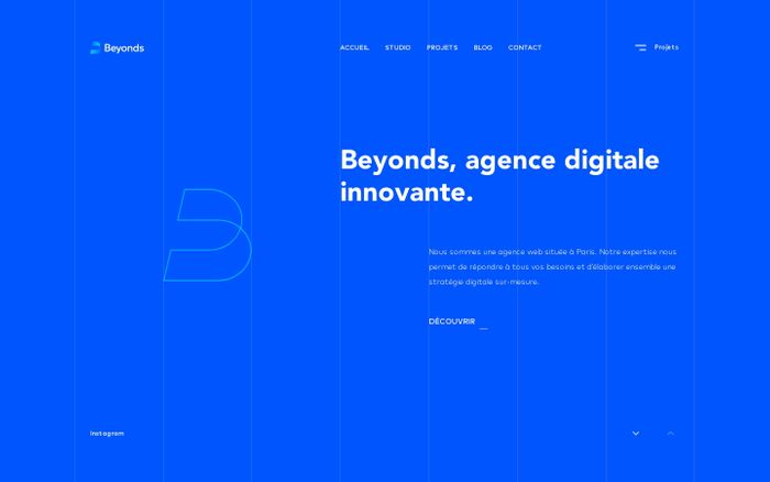 Screenshot of Beyonds, agence digitale innovante
