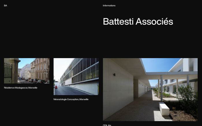 Screenshot of Battesti Associés