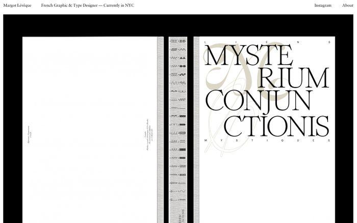 Screenshot of Margot Lévêque Graphic & Type Designer
