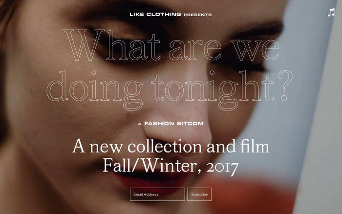 Screenshot of Like Clothing website