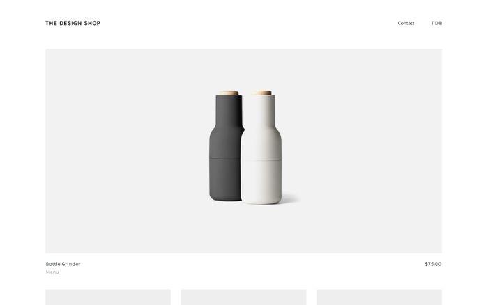 Screenshot of The Design Shop