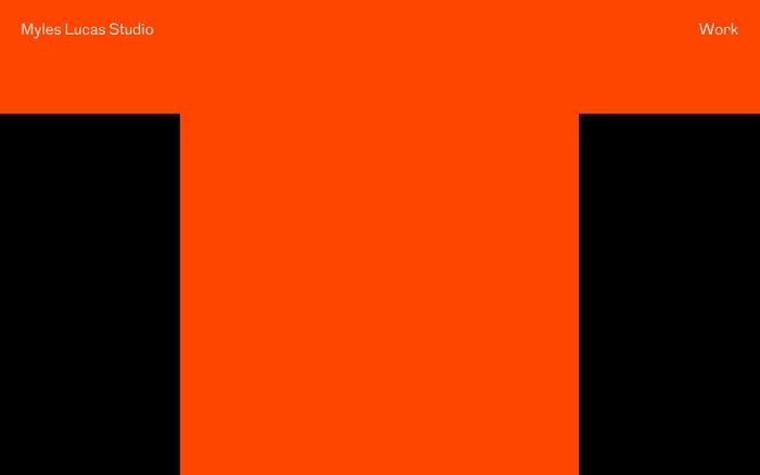 Screenshot of Myles Lucas Studio — Branding & design — Brighton