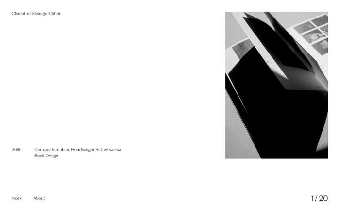 Screenshot of Charlotte Debauge-Cahen - Freelance graphic designer based in Paris