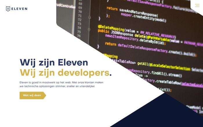 Screenshot of Eleven | Software development