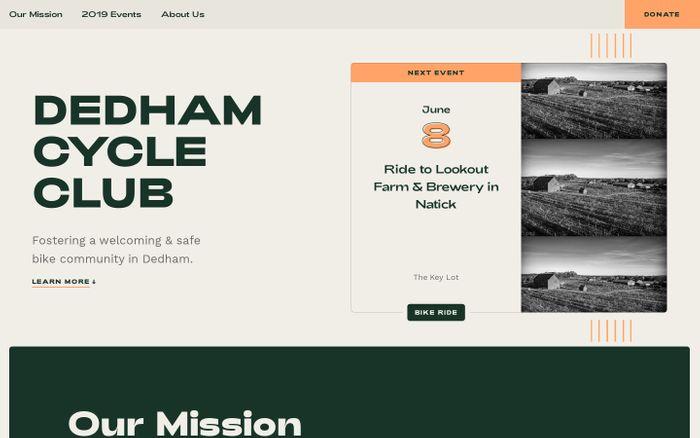 Screenshot of Dedham Cycle Club - Massachusetts