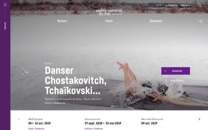 Screenshot of Opéra National du Rhin