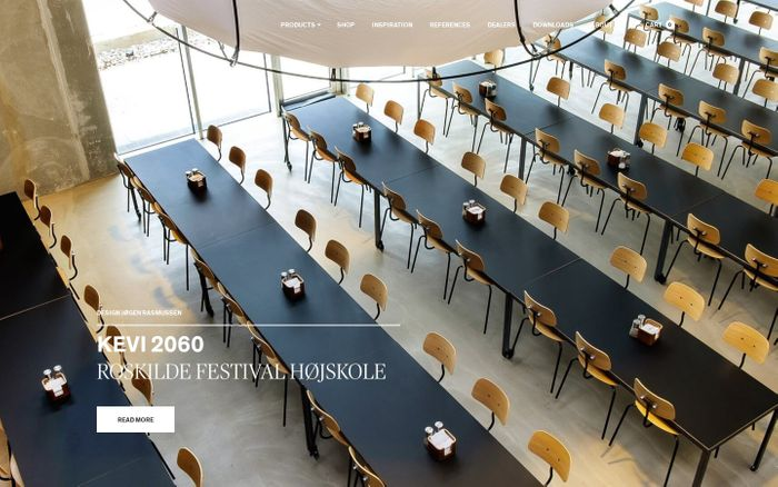 Screenshot of Danish Design furniture - Chairs, Tables, Shelving - Engelbrechts 1989