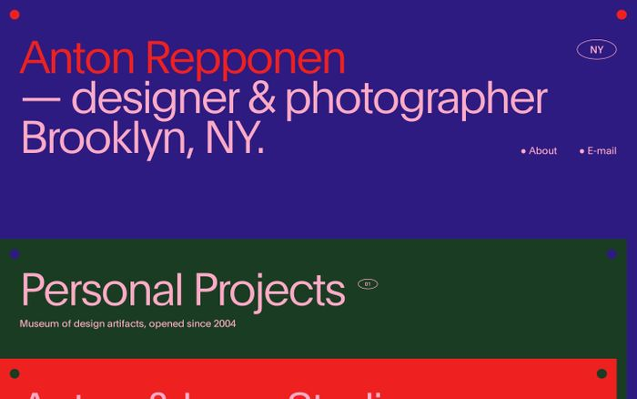 Screenshot of Anton Repponen website