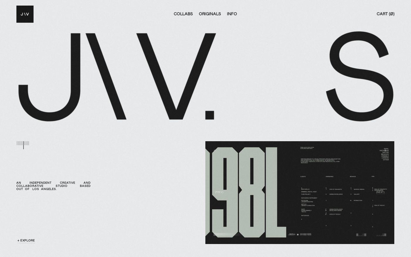 Screenshot of Jon Way Studio website