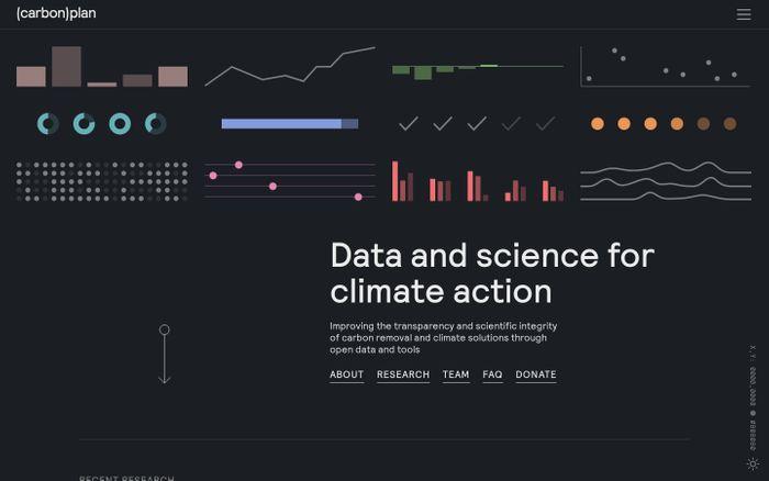 Screenshot of Carbonplan website