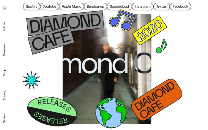 Screenshot of Diamond Cafe