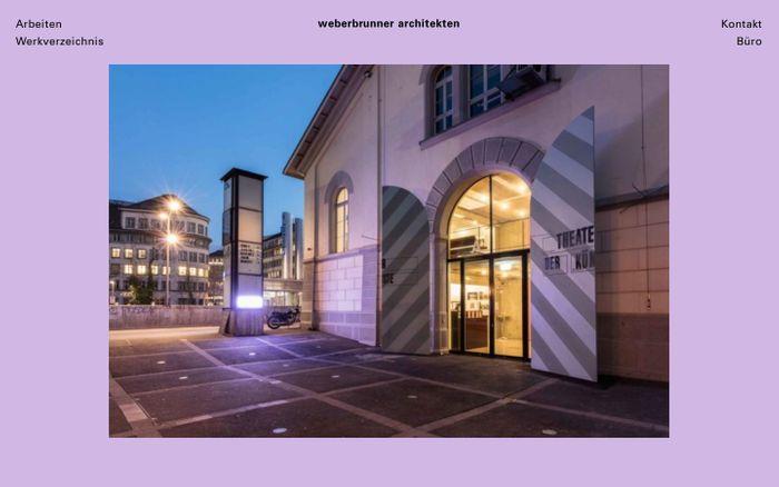 Screenshot of Startseite - weberbrunner architekten