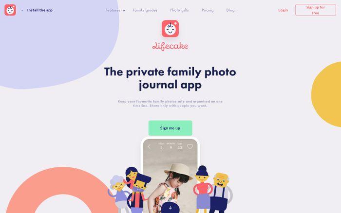 Screenshot of Kids' photo journal for family | Lifecake