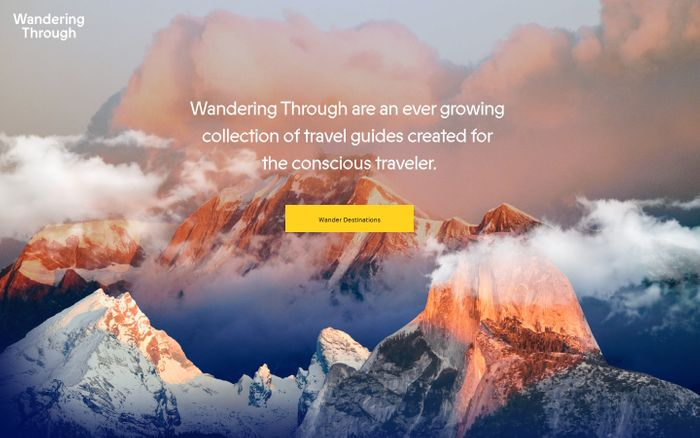 Screenshot of Wandering Through – Travel experiences for the conscious traveller.