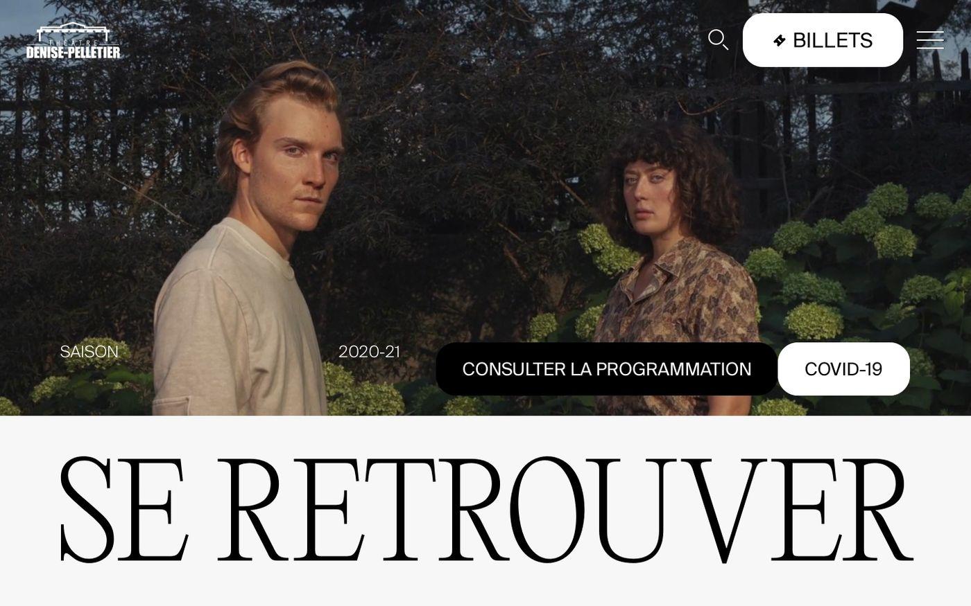 Screenshot of Théâtre Denise-Pelletier website